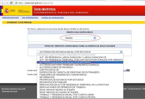 cita previa NIE estudiantes Espana, all.ec