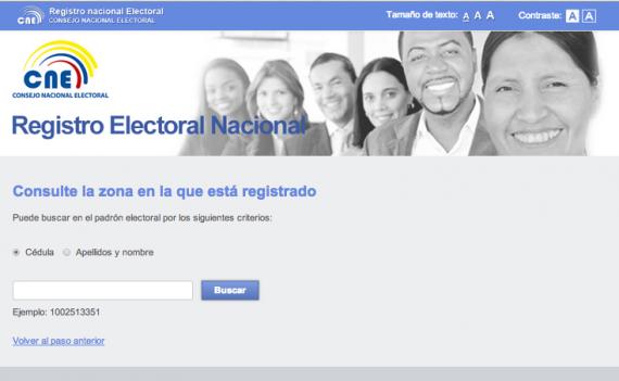 Consulta tu lugar de votacion -Elecciones Ecuador Febrero 2014